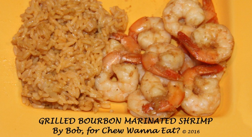 GRILLED BOURBON MARINATED SHRIMP