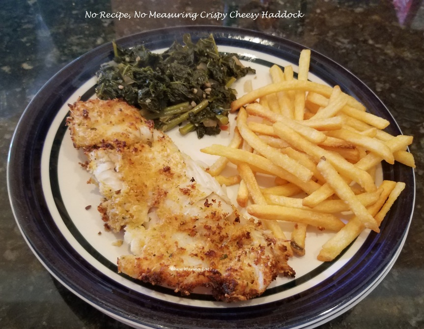 Crispy Cheesy, Haddock Dinner (No Measuring Required)